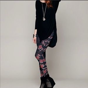 Free people winters story rose leggings small